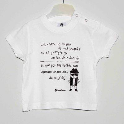 Camiseta «mis padres son agentes de la CIA»