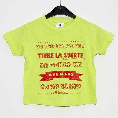 """Camiseta """"Un hermano como el mío"""""""