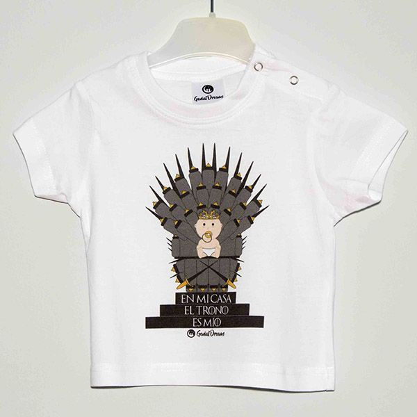 Camiseta en mi casa el trono es m o genial dreams ropa infantil original - Estampar camisetas en casa ...