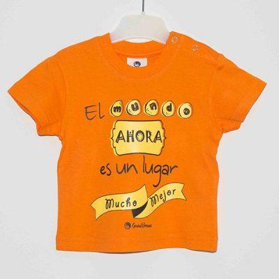 Camiseta «el mundo ahora es un lugar mejor»