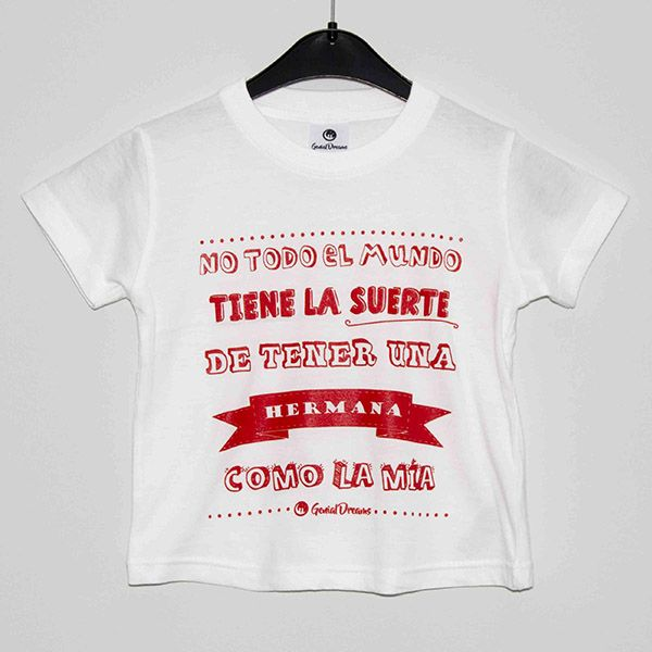 Camiseta una hermana como la m a genial dreams ropa - Regalo original hermana ...