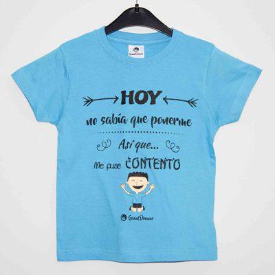 """Camiseta """"Hoy me puse contento"""""""