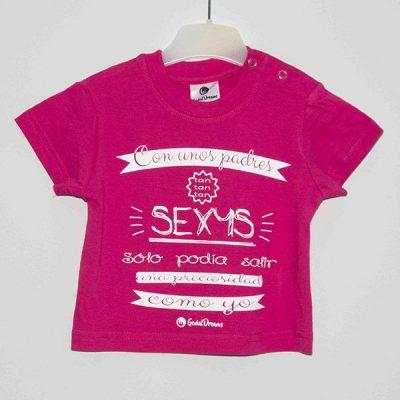 """Camiseta """"Con unos padres tan sexys"""""""
